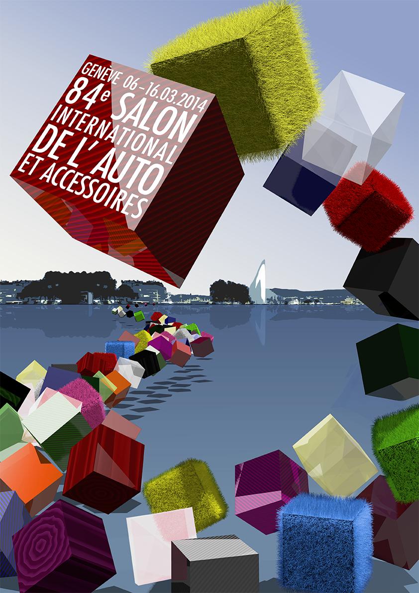 Affiche du Salon de l'Auto - Français