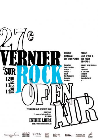 Vernier sur Rock, affiche version finale.