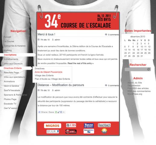 Course de l'Escalade: site web